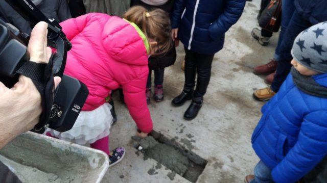 Posa della prima pietra cooperative edilizie Druso Est Prati di Gries
