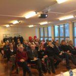 Il pubblico presente nella Sala Giuliani del Teatro Cristallo di Bolzano