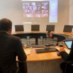 Videokonferenz: Wirtschaft, Banken und Garantiegenossenschaften ziehen an einem Strang, um Unternehmen zielgerichtet und unbürokratisch zu helfen.