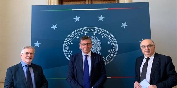 I presidenti Schiavone Lusetti e Gardini