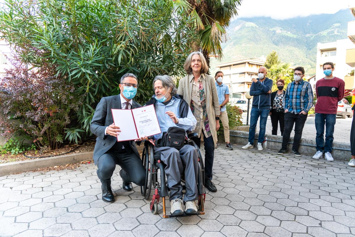Arno Kompatscher und Enzo Dellantonio